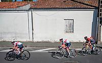 Tadej Pogačar (SVK/UAE-Emirates) brought back to the peloton<br /> <br /> Stage 10 from île d'Oléron (Le Château-d'Oléron) to Île de Ré (Saint-Martin-de-Ré)(169km)<br /> <br /> 107th Tour de France 2020 (2.UWT)<br /> (the 'postponed edition' held in september)<br /> <br /> ©kramon