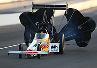 Nov 1, 2019; Las Vegas, NV, USA; NHRA top fuel driver Richie Crampton during qualifying for the Dodge Nationals at The Strip at Las Vegas Motor Speedway. Mandatory Credit: Mark J. Rebilas-USA TODAY Sports