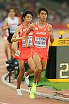 (L to R) <br /> Yuta Shitara,  <br /> Kota Murayama (JPN), <br /> AUGUST 22, 2015 - Athletics : <br /> 15th IAAF World Championships in Athletics Beijing 2015 <br /> Men's 10000m Final <br /> at Beijing National Stadium in Beijing, China. <br /> (Photo by YUTAKA/AFLO SPORT)