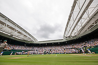 London, England, 4th July, 2016, Tennis, Wimbledon, Overall view of centercourt<br /> Photo: Henk Koster/tennisimages.com