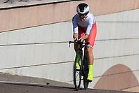 9th September 2021; Trento, Trentino–Alto Adige, Italy: 2021 UEC Road European Cycling Championships, Womens Individual time trials:  Tatiana ANTOSHINA (RUS)