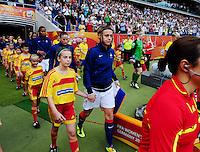 Fifa Women's World Cup Germany 2011 : Zweden - France Frankrijk at Sinsheim World Cup stadium : Sandrine Soubeyrand bij het betreden van het veld.foto DAVID CATRY / Vrouwenteam.be