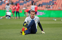 SANDY, UT - JUNE 10: Ethan Horvath #12 of the United States warming upS before a game between Costa Rica and USMNT at Rio Tinto Stadium on June 10, 2021 in Sandy, Utah.