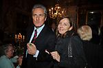 """FRANCESCO RUTELLI CON BARBARA PALOMBELLI<br /> PRESENTAZIONE LIBRO """" I ROCCALTA"""" DI EDVIGE SPAGNA<br /> PALAZZO TAVERNA ROMA 2008"""