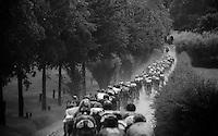 peloton in the rain<br /> <br /> stage 3: Buchten - Buchten (NLD/210km)<br /> 30th Ster ZLM Toer 2016