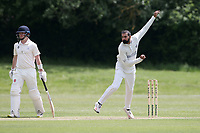 A Malik in bowling action for Hornchurch during Billericay CC (batting) vs Hornchurch CC, Hamro Foundation Essex League Cricket at the Toby Howe Cricket Ground on 12th June 2021