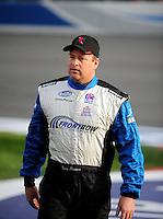 Feb 21, 2009; Fontana, CA, USA; NASCAR Nationwide Series driver Tony Raines prior to the Stater Brothers 300 at Auto Club Speedway. Mandatory Credit: Mark J. Rebilas-