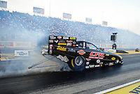 Jul, 8, 2011; Joliet, IL, USA: NHRA funny car driver Justin Schriefer during qualifying for the Route 66 Nationals at Route 66 Raceway. Mandatory Credit: Mark J. Rebilas-