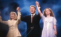 Hillary Bill Chelsea Clinton 1992<br /> Photo By Adam Scull/PHOTOlink.net