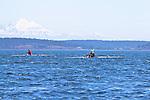 Port Townsend, Rat Island Regatta, rowers, Robin Pike; Ashland OR, MAAS Flyweight, John Heater, MAAS Flyweight, racing, Sound Rowers, Rat Island Rowing Club, Puget Sound, Olympic Peninsula, Washington State, water sports, rowing, kayaking, competition,