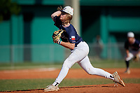 William Maynard (60) during the WWBA World Championship at Lee County Player Development Complex on October 9, 2020 in Fort Myers, Florida.  William Maynard, a resident of Tomball, Texas who attends Klein Cain High School, is committed to Texas A&M.  (Mike Janes/Four Seam Images)