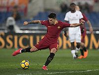 Calcio, Serie A: AS Roma - AC Milan, Roma, stadio Olimpico, 25 febbraio, 2018.<br /> Roma's Diego Perotti in action during the Italian Serie A football match between AS Roma and AC Milan at Rome's Olympic stadium, February 28, 2018.<br /> UPDATE IMAGES PRESS/Isabella Bonotto