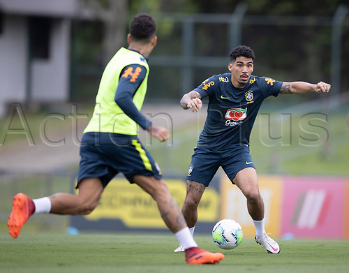 12th November 2020; Granja Comary, Teresopolis, Rio de Janeiro, Brazil; Qatar 2022 World Cup qualifiers; Allan of Brazil during training session