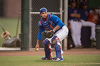 AZL Cubs 1 catcher Alexander Guerra (6) during an Arizona League game against the AZL Padres 1 at Sloan Park on July 5, 2018 in Mesa, Arizona. The AZL Cubs 1 defeated the AZL Padres 1 3-1. (Zachary Lucy/Four Seam Images)
