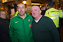 Robert Bonnar (left) and Paul Hughes who were in the Old Sailor Pub in the red light district of Amsterdam when it was attacked by Ajax fans.