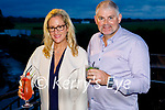 Enjoying the evening with a cocktail in the Listowel Arms Hotel on Friday. L to r: Valerie Sheehy and Tim Scanlon from Duagh