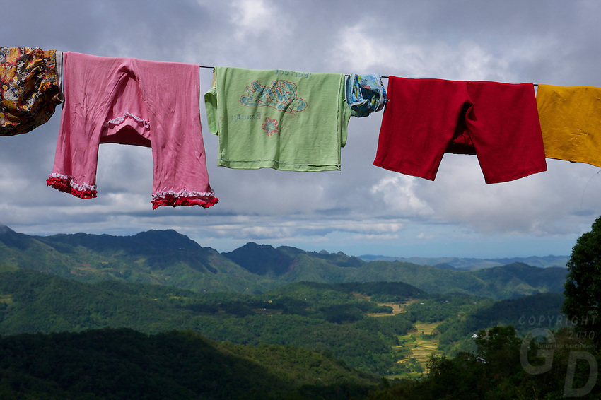 """""""The washing"""" Banaue Mountain Province Rice Terraces Philippines"""