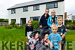 Mindausas Knyza with his family at his home In Sneem which was damaged by flooding.<br /> Front: Tomas, Karolis, twins Gabija and Emilija and Goda.<br /> Back: Mindausas and his partner Sandra Traskovskaja.
