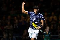 Rotterdam, The Netherlands, 15 Februari 2020, ABNAMRO World Tennis Tournament, Ahoy,<br /> Pablo Carreno Busta (ESP) takes the win.<br /> Photo: www.tennisimages.com