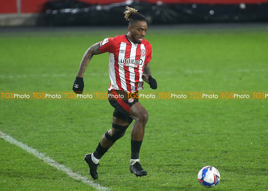 Ivan Toney of Brentford in action during Brentford vs Wycombe Wanderers, Sky Bet EFL Championship Football at the Brentford Community Stadium on 30th January 2021