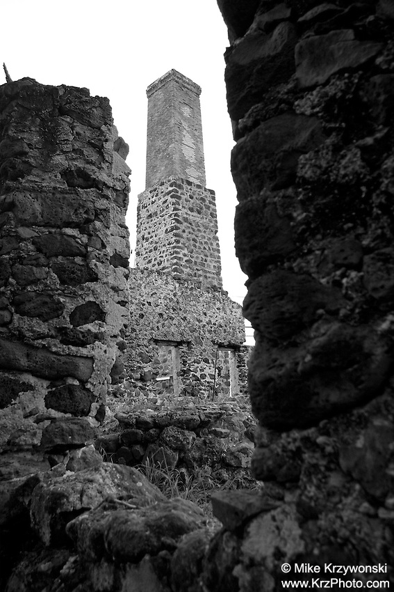 Historic Kualoa Sugar Mill Ruins, Kualoa Ranch, Oahu, Hawaii