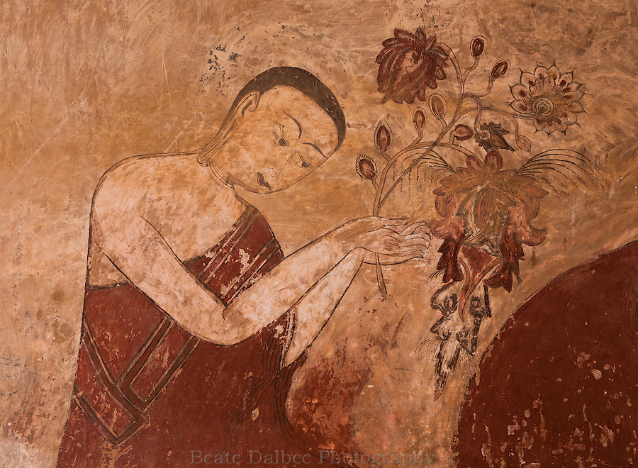 Part of a fresco in the Sulamani pagoda, Bagan, Myanmar