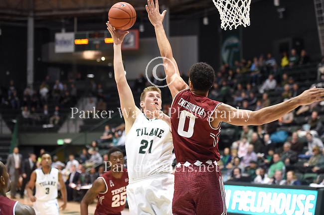 Tulane falls to Temple, 64-56, in a battle for first place in the American Athletic Conference.