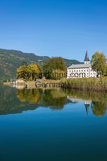 Oesterreich, Kaernten, Ossiacher See: Ossiach mit Stift Ossiach   Austria, Carinthia, Lake Ossiach: Ossiach with monastery Ossiach
