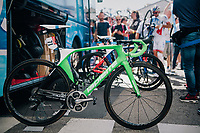 Arnaud Démare's (FRA/FDJ) (customised) full green race machine<br /> <br /> 104th Tour de France 2017<br /> Stage 5 - Vittel › La Planche des Belles Filles (160km)