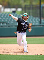 IMG Academy Ascenders Tommy White (34) during practice before the 42nd Annual FACA All-Star Baseball Classic on June 5, 2021 at Joker Marchant Stadium in Lakeland, Florida.  (Mike Janes/Four Seam Images)