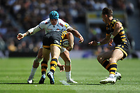 Jack Nowell of Exeter Chiefs wraps up Jimmy Gopperth of Wasps during the Premiership Rugby Final at Twickenham Stadium on Saturday 27th May 2017 (Photo by Rob Munro)