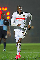 Izale McLeod of Notts County during the Sky Bet League 2 match between Wycombe Wanderers and Notts County at Adams Park, High Wycombe, England on 15 December 2015. Photo by Andy Rowland.