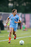 Casey Nogueira (27) of Sky Blue FC. Sky Blue FC defeated the Atlanta Beat 1-0 during a Women's Professional Soccer (WPS) match at Yurcak Field in Piscataway, NJ, on June 22, 2011.