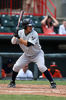 Trenton Thunder Catcher Jose Gil (38) during a game vs. the Erie Seawolves at Jerry Uht Park in Erie, Pennsylvania;  June 24, 2010.   Trenton defeated Erie 11-2.  Photo By Mike Janes/Four Seam Images