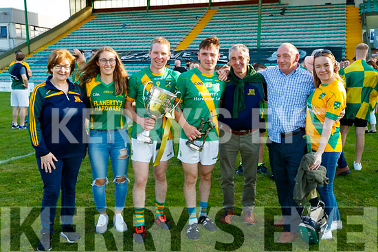 Julie O'Connor, Ellen Cooke, Paudie O'Connor, Maurice O'Connor, Nicky Cooke, Paddy Joe O'Connor and Elaine O'Connor, pictured at the Senior Hurling final at Austin Stack Park, Tralee, on Sunday last.