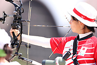 27th August 2021; Tokyo, Japan; Miho Nagano (JPN), Archery : <br /> Women's Individual Compound Open Ranking Round <br /> during the Tokyo 2020 Paralympic Games at the Yumenoshima Park Archery Field in Tokyo, Japan.