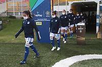 BOGOTA -COLOMBIA,16-10-2020: Millonarios y Llaneros  en partido por la fecha 1 de la Liga femeina BetPlay DIMAYOR I 2020 jugado en el estadio Metropoltano de Techo  de la ciudad de Bogotá. / Millonarios  and Llaneros in match for the date 1 BetPlay DIMAYOR women´s  League I 2020 played at Metropolitano stadium in Bogota city. Photo: VizzorImage/ Felipe Caicedo / Staff
