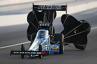 Nov 1, 2019; Las Vegas, NV, USA; NHRA top fuel driver Leah Pritchett during qualifying for the Dodge Nationals at The Strip at Las Vegas Motor Speedway. Mandatory Credit: Mark J. Rebilas-USA TODAY Sports