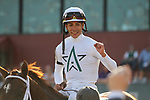 HOT SPRINGS, AR - MARCH 17: Hedge Fund #2 with jockey Jose Ortiz aboard after winning the Essex Handicap at Oaklawn Park on March 19, 2018 in Hot Springs, Arkansas. (Photo by Justin Manning/Eclipse Sportswire/Getty Images)