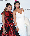 Kim Kardashian and Kourtney Kardashian at the 21st Annual Elton John AIDS Foundation Academy Awards Viewing Party held at The City of West Hollywood Park in West Hollywood, California on February 24,2013                                                                               © 2013 Hollywood Press Agency