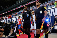 Harrison, NJ - Friday Sept. 01, 2017: Match Officials prior to a 2017 FIFA World Cup Qualifier between the United States (USA) and Costa Rica (CRC) at Red Bull Arena.
