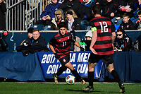 Chester, PA - Sunday December 10, 2017: Amir Bashti. Stanford University defeated Indiana University 1-0 in double overtime during the NCAA 2017 Men's College Cup championship match at Talen Energy Stadium.