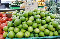 Limes displayed for sale at El Palacio de Jugos, a famous ethnic juice bar where locals come for fruit shakes.