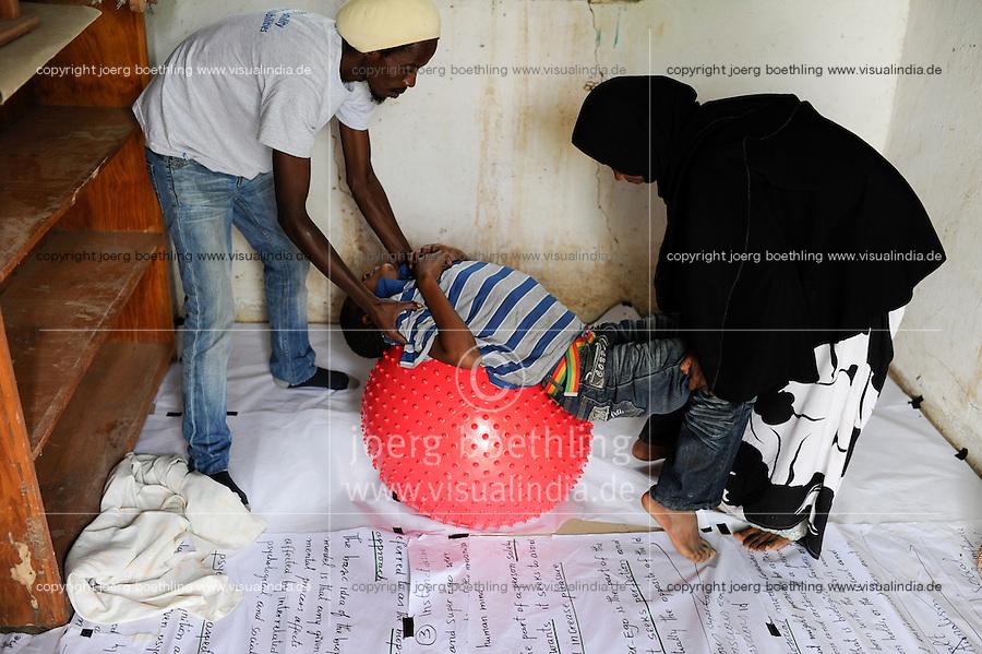 KENYA Turkana Region, refugee camp Kakuma, where 80.000 refugees live,  JESUIT REFUGEE SERVICE school, physio therapy and trauma counselling for refugees / KENIA Fluechtlingslager Kakuma in der Turkana Region , hier leben ca. 80.000 Fluechtlinge ,  JRS JESUIT REFUGEE SERVICE Schule und trauma counselling