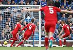 Graeme Shinnie scores for Aberdeen and celebrates