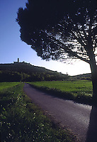Tuscan road to castle<br />