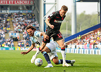 Bolton Wanderers' Craig Noone competing with Blackburn Rovers' Bradley Dack <br /> <br /> Photographer Andrew Kearns/CameraSport<br /> <br /> The EFL Sky Bet Championship - Blackburn Rovers v Bolton Wanderers - Monday 22nd April 2019 - Ewood Park - Blackburn<br /> <br /> World Copyright © 2019 CameraSport. All rights reserved. 43 Linden Ave. Countesthorpe. Leicester. England. LE8 5PG - Tel: +44 (0) 116 277 4147 - admin@camerasport.com - www.camerasport.com