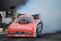 Nov. 8, 2012; Pomona, CA, USA: NHRA funny car driver Johnny Gray during qualifying for the Auto Club Finals at at Auto Club Raceway at Pomona. Mandatory Credit: Mark J. Rebilas-