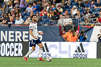 FOXBOROUGH, MA - AUGUST 18: Steven Birnbaum #15 of D.C. United looks to pass during a game between D.C. United and New England Revolution at Gillette Stadium on August 18, 2021 in Foxborough, Massachusetts.