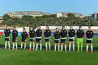 20200307  Lagos , Portugal : Team Germany ( German defender Leonie Maier (4) , German defender Marina Hegering (5) , German midfielder Lea Schuller (7) , German goalkeeper Laura Benkarth (12) , German defender Johanna Elsig (14) , German midfielder Linda Dallmann (16) , German defender Felicitas Rauch (17) , German defender Sophia Kleinherne (24) , German midfielder Sydney Lohmann (25) , German midfielder Lena Lattwein (26) , German midfielder Lena Petermann (27) ) pictured during the female football game between the national teams of Germany and Norway on the second matchday of the Algarve Cup 2020 , a prestigious friendly womensoccer tournament in Portugal , on saturday 7 th March 2020 in Lagos , Portugal . PHOTO SPORTPIX.BE | STIJN AUDOOREN